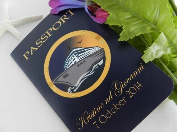 Destination Wedding Invitations Passport: Cruise Passport Wedding Invitations By MyMemorableDesigns