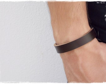 Leather Men's Bracelet, Brown Leather Bracelet, Unisex Leather Cuff, Brown Leather Wristband, Men's Leather Bracelet, Surfer's Leather Cuff