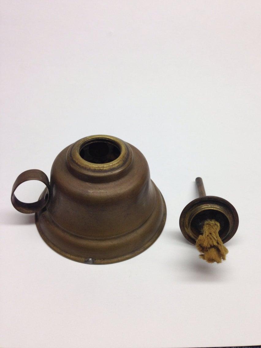 Vintage Oil Finger Lantern Lamp Can Brass Tin by PriorMemories