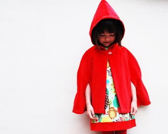 Red riding hood cape jacket