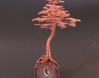 Copper Sculpture | Bonsai Tree Sculpture | Copper Art | Copper Anniversary | Copper Home Decor | Copper Metal Art