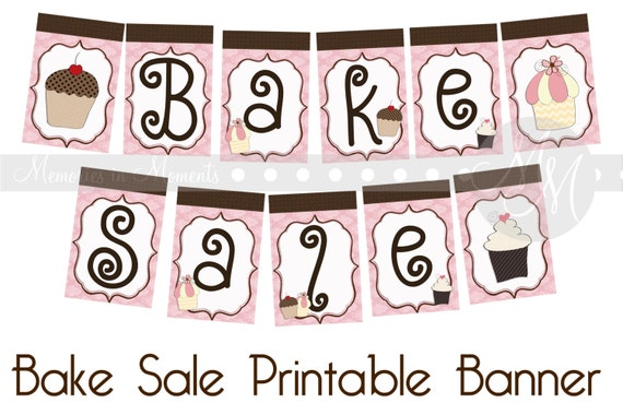 bake sale printable banner