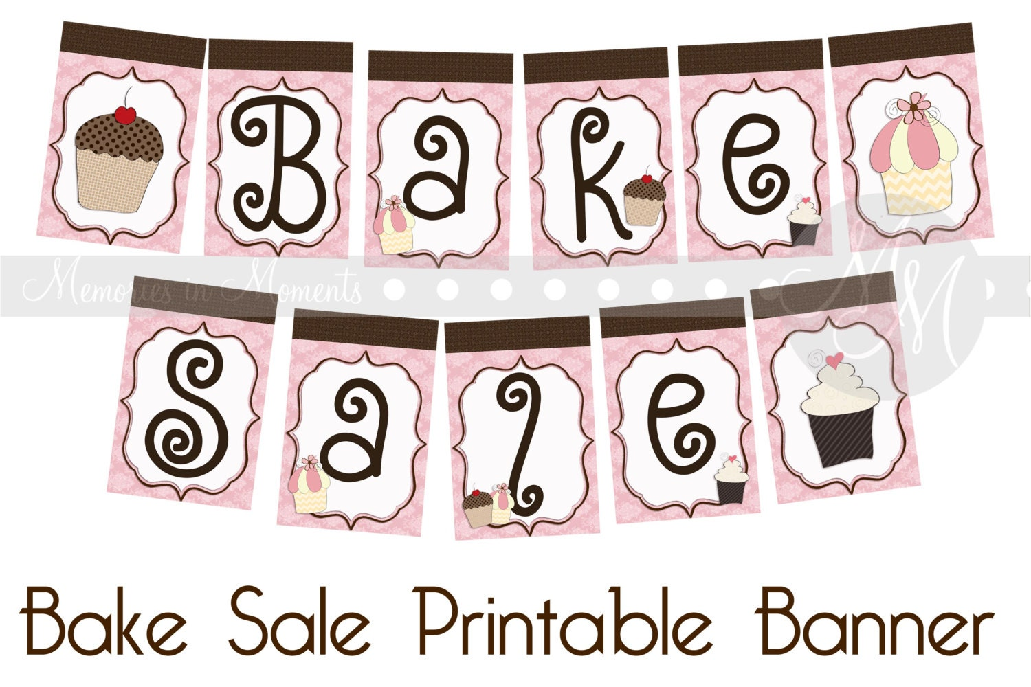 Printable Bake Sale Sign Bake sale printable banner by