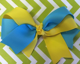 Blue & yellow bow