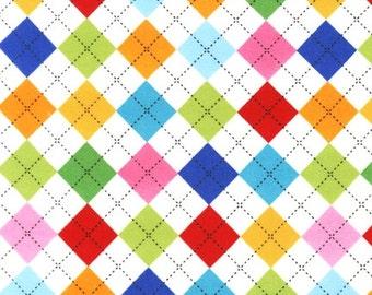 Rainbow Remix FLANNEL Argyle From Robert Kaufman