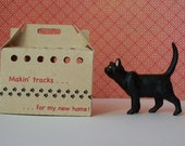 Cardboard Pet Carrier -- 1/12-Scale Dollhouse Miniature -- Bring Home A Shelter Pet!
