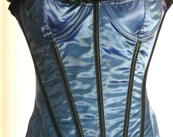 hand dyed boned corset with size  bust 36