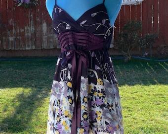 neslay paris flower summer dress size med