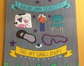 The MY SMALL DIARY Collection - zine - whimsical autobio comics! 112 pgs, signed