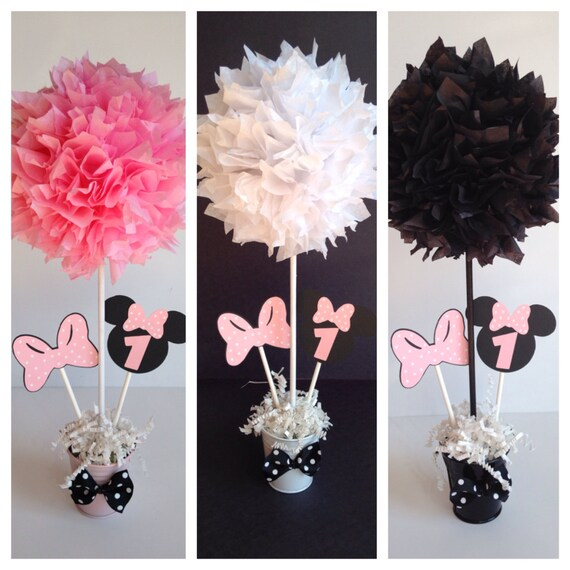 Minnie mouse birthday party decoration light pink for Baby minnie mouse party decoration