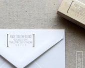 Wooden Address Stamp - Personalized Stamp - Self-Inking - Style 7