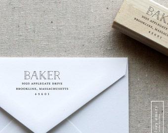 Custom Return Address Stamp. Self-Inking Stamp. Wood Stamp. Wooden Mailing Stamp. Custom Address Stamp. Self-Inking Address Stamp. STYLE 18.