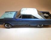 Handmade ,Scale Model, Classicwrecks car ,Plymouth Blue,Rat Rod
