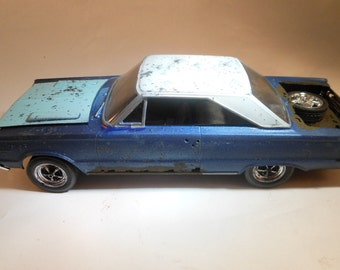 Handmade ,Scale Model, Classicwrecks car ,Plymouth Blue,Rat Rod