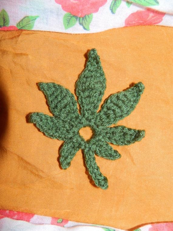 Free Crochet Pattern For Hemp Leaf : Pattern Only Crochet Marijuana Weed Leaf Motif by ...