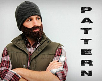 Crochet Beard Pattern - Adult Size. Instant Download.