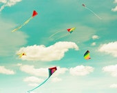 kite print beach wall art nursery art print nursery wall decor art photography decor nursery wall art sky photography nursery aqua teal red
