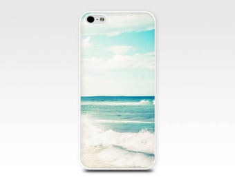 nautical iphone case 5s iphone 6 case beach scene iphone case 4 fine art iphone 4s case ocean iphone case 5 teal surf coastal case blue
