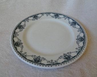 Vintage Shenango China Restaurant Ware Plate in Nassau Pattern