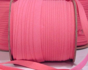"Hot Pink 1/2"" X-tra wide double fold bias tape 10yds"