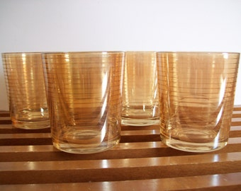 Lustre Ware Rocks Glasses, Mid-Century Barware, Lowball Scotch Glasses, Vintage Barware