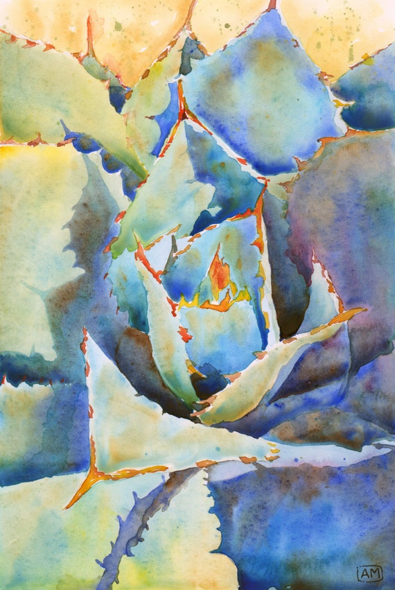 Watercolor Art Print 16x20 Ready To Frame Matted Fine Art