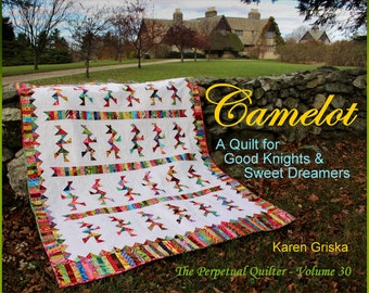 Camelot Quilt Pattern, Indian Quilt, Modern Scrap Quilt Pattern, Boy or Girl, Easy, PDF, qtm, immediate download