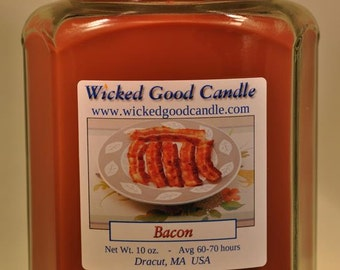 Glass Jar Candle Soy Paraffin Blend - Bacon