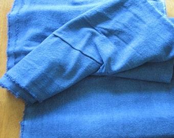 Indigo dyed cotton fabric