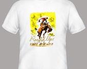 Round Ups Cowboy Rodeo Vintage Print Adult Tee