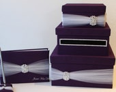 Wedding Card Box, guestbook and pen set - Custom Made to Order