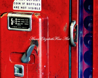 Americana Photography,Vintage Print,Rustic,Soda Machine,Nostalgic,Hipster,Game Room,Bar Art, Diner, Kitchen Decor,Cola Decor,Food,Dorm Decor