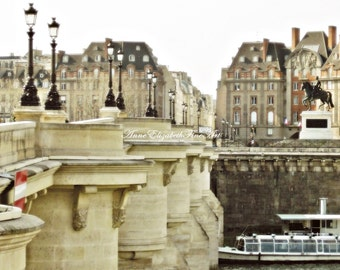 Paris Photography,Pont Neuf,Paris Print,Bridge,ParisTravel,River Seine,Color,Paris Rooftops,Parisian,Romantic,Pastel, Dreamy,Kitchen,Bedroom