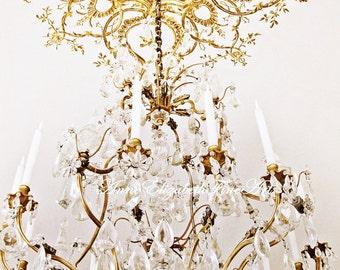 Chandelier Art ,Versailles, Marie Antoinette Wall Art,Paris Print,Romantic,Rococo Art, Baroque,Nursery,Elegant Art ,Living Room Decor,Dorm