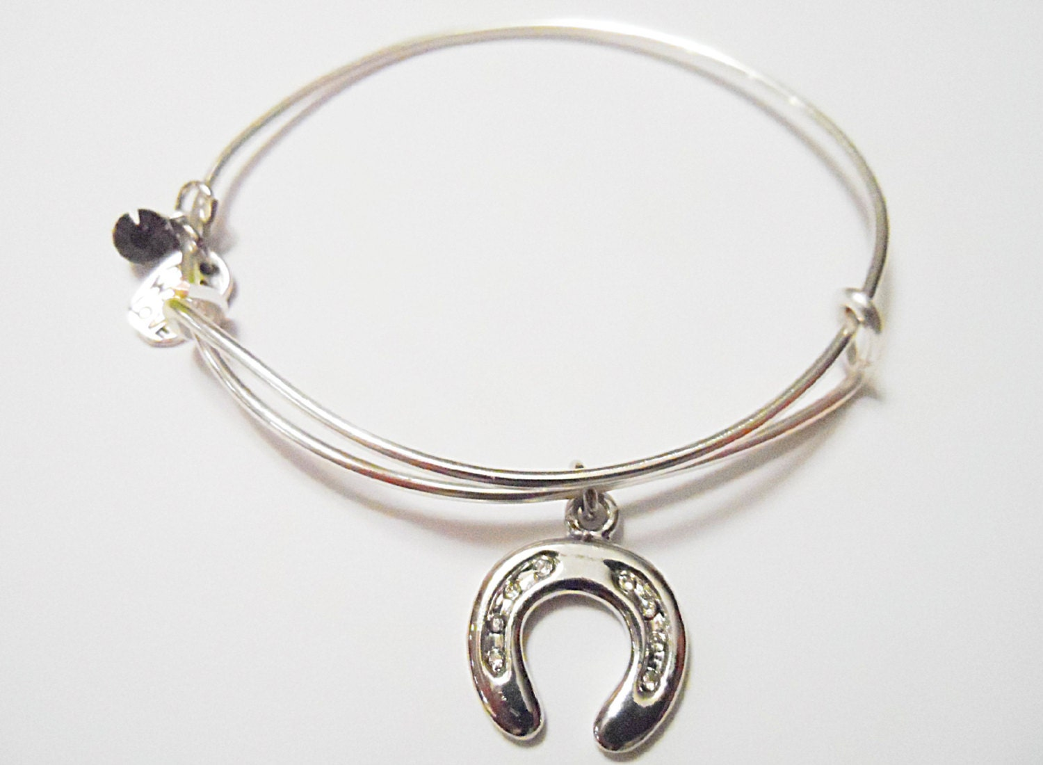 horseshoe alex and ani inspired charm bracelet