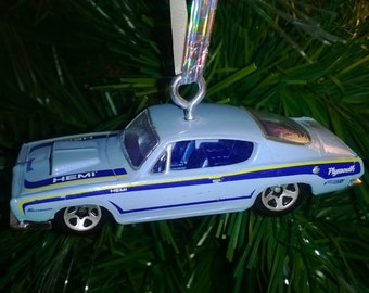 Hemi Cuda Custom Hot Wheels Ornament
