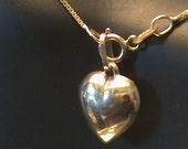 14 K Yellow Gold Chain & Heart Pendant