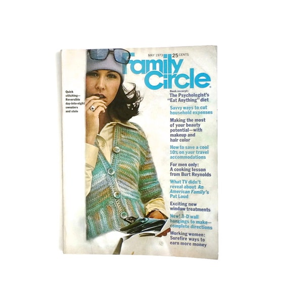 Family Circle Knitting Patterns : Vintage Family Circle Knitting Patterns Crochet Sewing