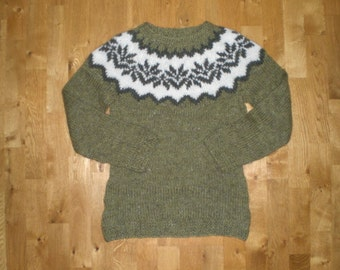 Icelandic sweater/pullover, womens,made of Icelandic wool, XS-S-M-L-XL-2XL-3XL-4XL-5XL-6XL made to order