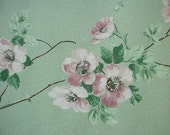Jadeite Wallpaper Wild Roses 1940s Shabby Cottage Craft Supplies Yardage Available