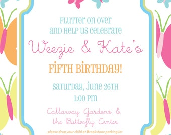 Butterfly Birthday Invitation- Summer Themed Party