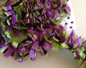 Craft Supplies Festooning Crepe Paper Garland Banner Purple Green Black Handmade Decoration Decorating Supply