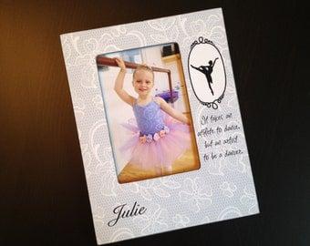 Personalized Ballet Gift Recital Photo Frame Ballerina Gift for Dancer Dance Keepsake Frame Wood 4x6 Picture Frame Custom Ballet Frame