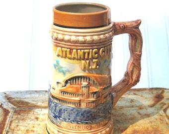 Atlantic City tankard beer mug New Jersey vintage marlin Steel pier souvenir