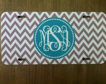 Personalized Monogrammed Car Tag- Design Your Own