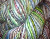 Hand Dyed/Hand Spun Wool Yarn  - Multicolor with Blues