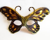 Arctic Skipper Butterfly Leather Mask