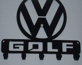 Key Rack VW Golf Metal Art
