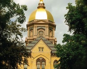 Notre Dame University, The Golden Dome, Photography, Home Decor, Vinyl Wall Decal, by Abby Smith