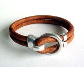 Light Brown Leather Bracelet